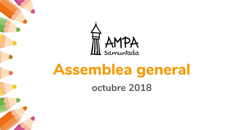 Assemblea general octubre 2018
